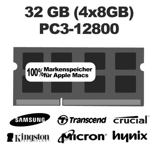 32 GB Kit PC-12800 1600MHz SO-DIMM (4x8GB)