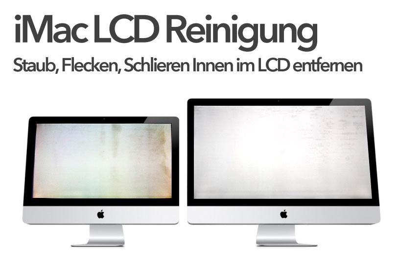 Imac Staub Schlieren Schmutz Flecken Im Lcd Display