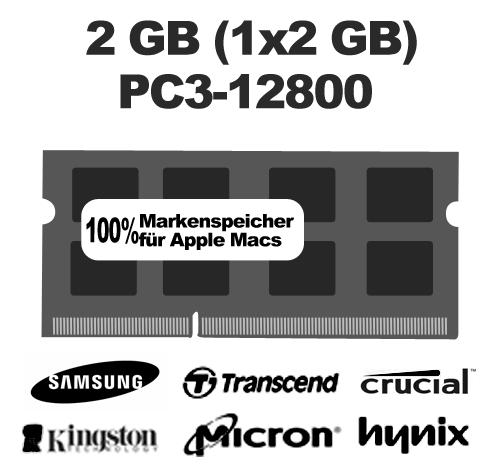 2GB (1x2GB) PC12800 1600MHz Arbeitsspeicher Ram