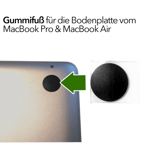 MacBook Pro Air Gummifuß für Bodenplatte
