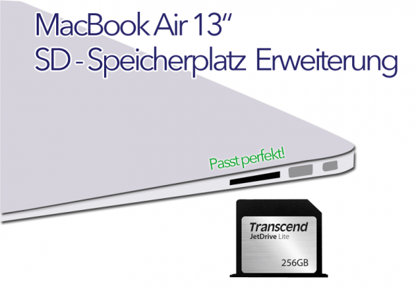 "MacBook Air 13"" SD - Karte bis 256GB Jetdrive lite 130"
